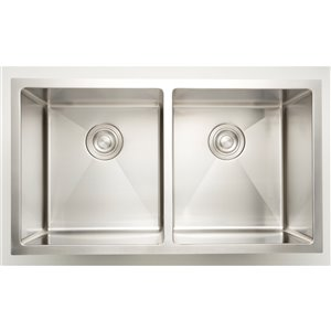 "American Imaginations Double Sink - 32"" x 19"" - Chrome"