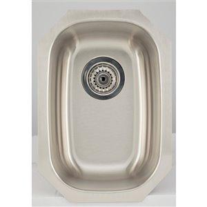 "American Imaginations Undermount Single Sink - 12.62"" x 18"" - Stainless Steel"