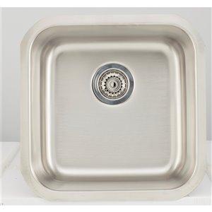 "American Imaginations Undermount Single Sink - 17.87"" x 17.87"" - Stainless Steel"
