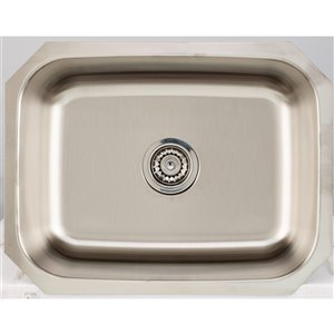 "American Imaginations Undermount Single Sink - 23"" x 17.75"" - Stainless Steel"