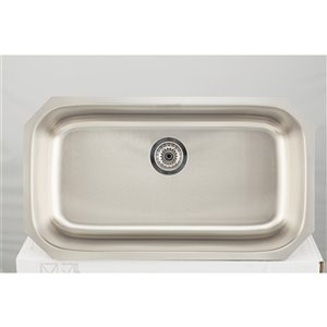 "American Imaginations Undermount Single Sink - 18"" - Stainless Steel"