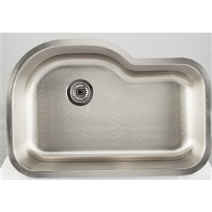"American Imaginations Undermount Single Sink - 31.12"" x 21.25"" - Stainless Steel"