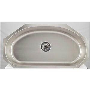 "American Imaginations Undermount Single Sink - 35.5"" - Stainless Steel"