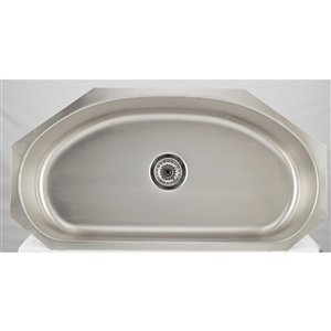 "American Imaginations Undermount Single Sink - 35.5"" x 18.5"" - Stainless Steel"