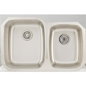 """American Imaginations Undermount Double Sink - 20.62"""" - Stainless Steel"""