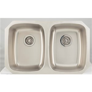 """American Imaginations Undermount Double Sink - 29.12"""" - Stainless Steel"""