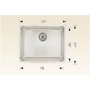 "American Imaginations Undermount Single Sink - 17"" - Stainless Steel"