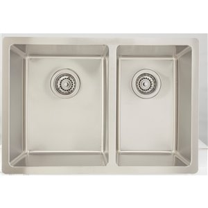 """American Imaginations Undermount Double Sink - 26"""" x 18"""" - Stainless Steel"""