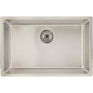 "American Imaginations Undermount Single Sink - 27"" x 17.5"" - Stainless Steel"
