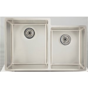 "American Imaginations Undermount Double Sink - 31.25"" - Stainless Steel"