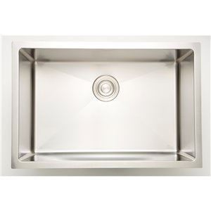 """American Imaginations Undermount Single Sink - 27"""" - Stainless Steel - Chrome"""