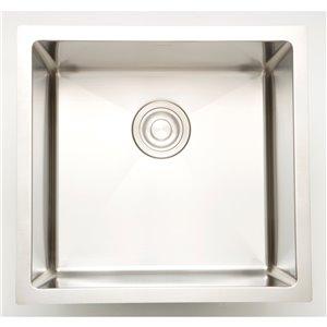 "American Imaginations Undermount Single Sink - 17"" x 17"" - Chrome"