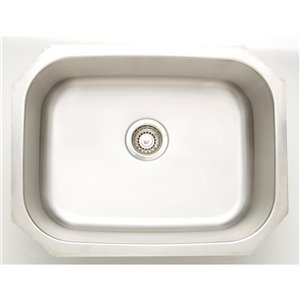 "American Imaginations Undermount Sink - 24.75"" - Stainless Steel"