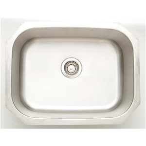 "American Imaginations Undermount Single Sink - 23.25"" x 17.75"" - Stainless Steel"