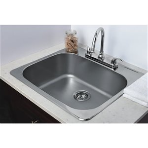 """American Imaginations Single Sink - 25"""" x 22"""" - Stainless Steel"""