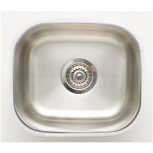 "American Imaginations Undermount Single Sink - 15"" - Stainless Steel"