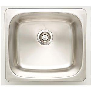 "American Imaginations Undermount Sink - 20"" - Stainless Steel"