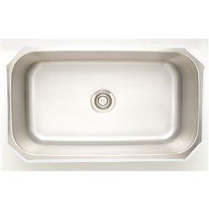"American Imaginations Undermount Single Sink - 31.5"" x 18"" - Stainless Steel"