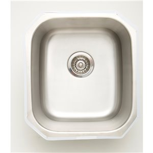 "American Imaginations Undermount Single Sink - 16.5"" x 18.5"" - Stainless Steel"