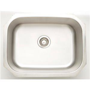 "American Imaginations Undermount Single Sink - 24.75"" - Stainless Steel"