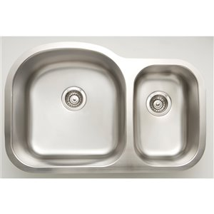 "American Imaginations Undermount Double Sink - 31.5"" x 20.5"" - Chrome"