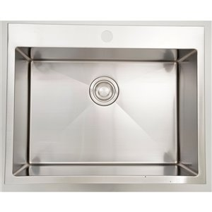 "American Imaginations Single Sink - 27"" x 20"" - Stainless Steel"