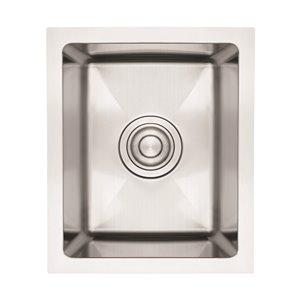 "American Imaginations Undermount Single Sink - 12"" x 16"" - Stainless Steel"