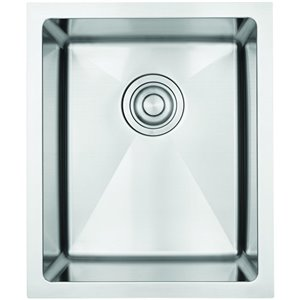"American Imaginations Undermount Sink - 15"" x 18"" - Stainless Steel"
