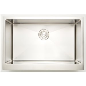"""American Imaginations Undermount Sink - 25"""" x 18"""" - Stainless Steel"""