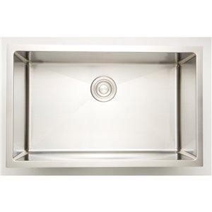 "American Imaginations Undermount Single Sink - 27"" x 18"" - Stainless Steel"