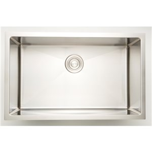 "American Imaginations Undermount Single Sink - 31"" - Stainless Steel"