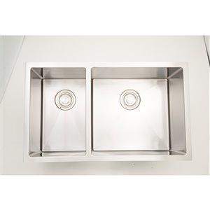 "American Imaginations Undermoun Sink - Double - 32"" x 18"" - Stainless Steel"