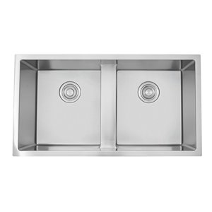 """American Imaginations Undermount Sinks - 33"""" x 18"""" - Stainless Steel - Chrome"""