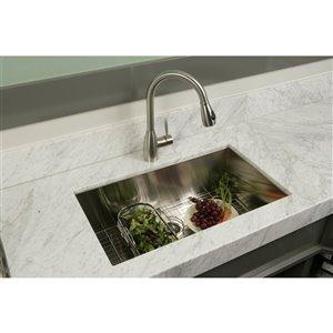 "American Imaginations Undermount Single Sink - 20"" x 18"" - Stainless Steel"