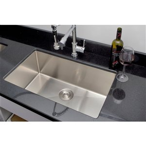 """American Imaginations Single Sink - 32"""" x 18"""" - Stainless Steel - Chrome"""