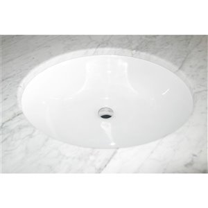 """American Imaginations Undermount Sink - 18.12"""" - Oval - White"""