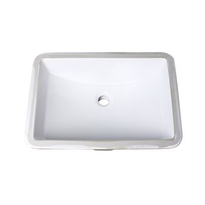 "American Imaginations Undermount Sink - 20.75"" - White"