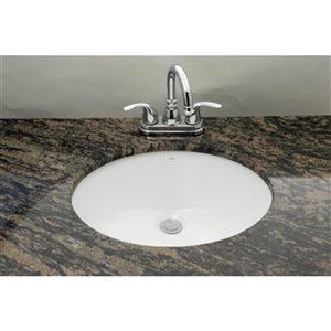 """American Imaginations Undermount Sink - 19.25"""" - Oval - White"""