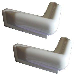 Multinautic 15042 Corner PVC Bumper 10-in L x 10-in W (2-Pac