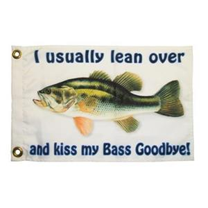 "Multinautic 35701 ""Bass Goodbye"" NAUTI Funny Flag,35701"