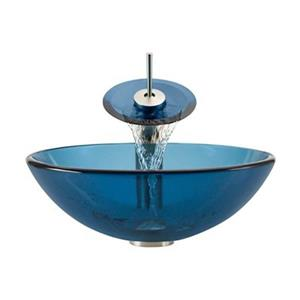 MR Direct Aqua Bathroom Waterfall Faucet Ensemble,601-AQ-WF-