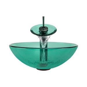 MR Direct Emerald Bathroom Waterfall Faucet Ensemble,601-E-W