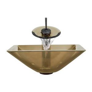 MR Direct Taupe Bathroom Waterfall Faucet Ensemble,603-TAU-W