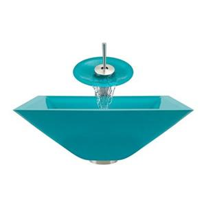 MR Direct Turquoise Bathroom Waterfall Faucet Ensemble,603-T