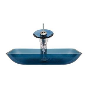 MR Direct Aqua Bathroom Waterfall Faucet Ensemble,640-AQ
