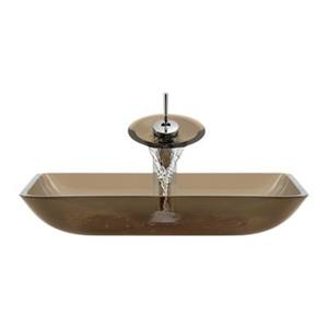 MR Direct Taupe Bathroom Waterfall Faucet Ensemble,640-T