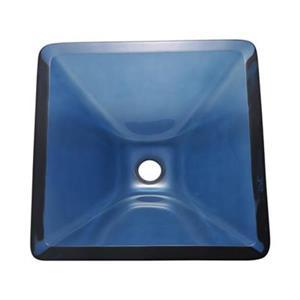 MR Direct Square Glass Vessel Sink,603-Aqua
