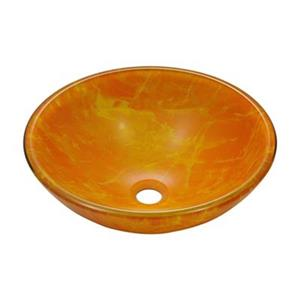 MR Direct Yellow/Orange Double Layer Glass Vessel Sink,605