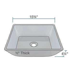 MR Direct Black Square Vessel Bathroom Sink,630