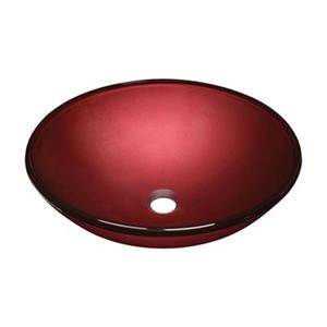 MR Direct Hand Painted Red Glass Vessel Sink,641
